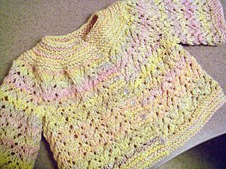 Think Spring EZ Baby Sweater on Two Needles