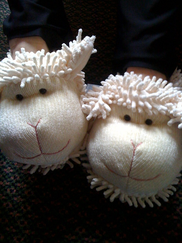 Sheepy slippers