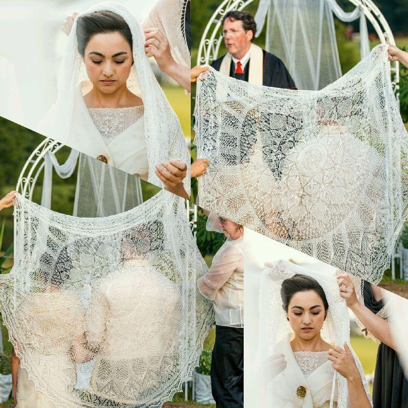 Wedding shawl collage