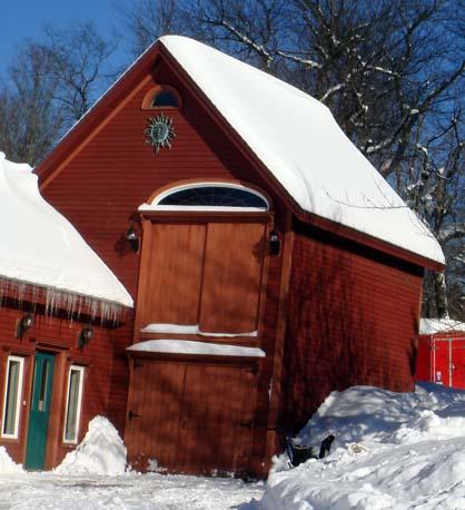 East Holden, Maine barn studio