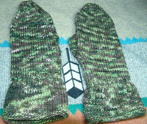 Jay's Felted Gauntlet Mittens
