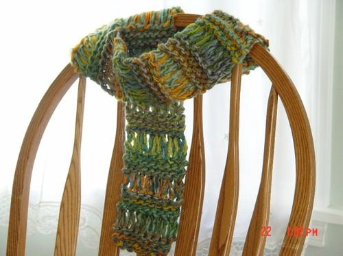 Caleb's drop stitch scarf 2004