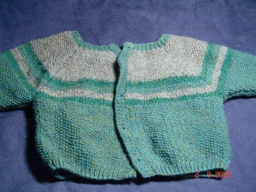 Caleb's Shetland baby cardigan