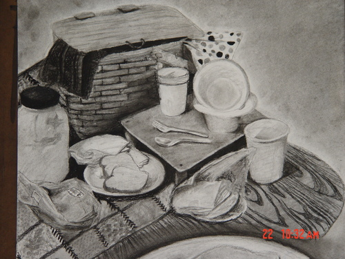 Picnic Basket Drawing Picnic Basket